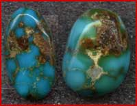 Blue Thunder Natural Nevada Turquoise cabochons