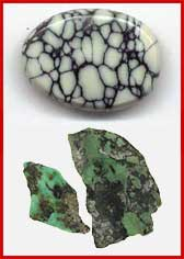 Colorback Natural American turquoise , variscite and chalcociderite