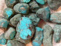 Johnny Bull Mine - Turquoise Nuggets - New Mexico Turquoise